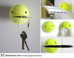 Creative DIY idea with a tennis ball!!