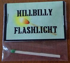 Hillbilly Flashlight Great For Birthdays or A Fun Gag Gift, Novelty Bags in Home & Garden, Greeting Cards & Party Supply, Party Supplies | eBay
