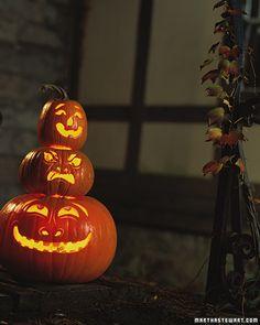 Pumpkin Totem - Martha Stewart Holidays