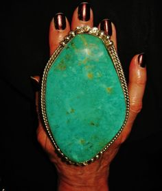 CHAVEZ AWESOME INSANELY HUGE TURQUOISE RING...125 grams!!! Sterling Silver sz 9
