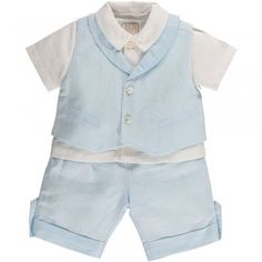 """Perfect for any special occasion - even baby's Christening. """"Elliott"""" in blue, from Emile et Rose, is smart, traditional and totally on trend."""