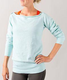 Look at this #zulilyfind! Sky Boatneck Sweatshirt by Oiselle #zulilyfinds