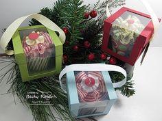 "Gift Box - Individual Cupcake Box Tutorial - from ""InkingIdaho.blogspot.com"""