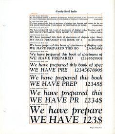 Goudy Bold Italic type specimen