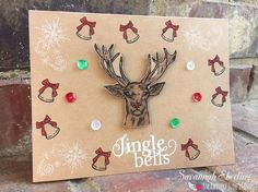 Card using three Strawberry Jude Stamps Sets Don't Forget Christmas, Tag It: Christmas and Note It: Letter to Santa.
