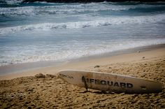 CGS_71142.jpg - Lifeguard surfboard on Manly Beach, Australia