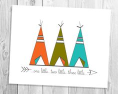 3 Teepees 8x10 Art PrintInstant Download by NicahLowryDesign, $5.00