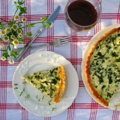 Quiche with spinach and goat cheese [Recipe in Lithuanian with translator]