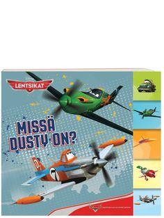 Lentsikat, Missä Dusty on? -kartonkikirjan  opastuksella eri suuntien oppiminen käy kuin liitäen. Paksut kartonkisivut. Nerf, Planes, Toys, Airplanes, Activity Toys, Clearance Toys, Gaming, Games, Plane
