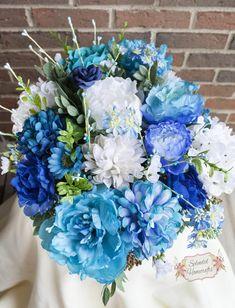 Floral Drawer Arrangement Blue Floral Centerpiece Wedding | Etsy Gift Table Wedding, Centerpiece Wedding, Christmas Centerpieces, Floral Centerpieces, Floral Arrangements, Wedding Decorations, Wedding Reception, Floral Wedding, Wedding Bouquets