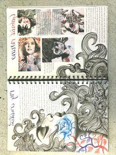 Photography sketchbook layout presentation 39 Trendy ideas A Level Art Sketchbook Water Lolo Art Inspo, Kunst Inspo, Kunstjournal Inspiration, Sketchbook Inspiration, Sketchbook Ideas, Le Wendigo, Portfolio D'art, Fashion Portfolio, Arte Gcse