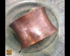 Patterned Embossed Copper Cuff Bracelet #ModernMetal #ArtisanMade #HandmadeMetalJewelry #7thAnniversary #WomensFashion #USAMade #Handmade by MeAndMyMansJewelry on Etsy