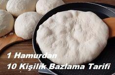 1 Hamurdan 10 Kişilik Bazlama Tarifi   Renkli Hobi Hamburger, Food And Drink, Cooking, Recipes, Breads, Kitchens, Bread, Cooking Recipes, Kochen