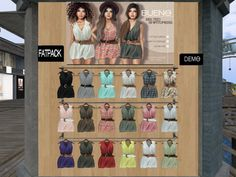 BUENO - dress/fatpack, 199L each/999LItem 7 of 54 Belted Shirtdress, mesh body compatible, 18 options available, demo available, 199L each/999L fatpack.  Get Lost in the Sahara with Uber! | Seraphim.