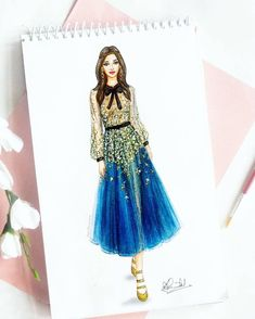 884 Likes, 60 Comments - Dipti Patel Dress Design Drawing, Dress Design Sketches, Dress Drawing, Fashion Design Drawings, Fashion Sketches, Drawing Sketches, Art Drawings, Fashion Drawing Dresses, Fashion Illustration Dresses