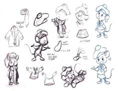 Olivia Flaversham from the Great Mouse Detective- Concept Art