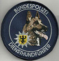 K-9: DienstHundführer  Bu Pol blau  DHF  Polizei mit KLETT !   MALINOIS  Patch