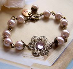 Set of 5 Bridesmaid Bracelets Personalized Gifts by lecollezione, $173.40