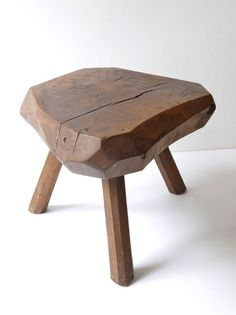 Tree Furniture, Deco Furniture, Solid Wood Furniture, Handmade Furniture, Furniture Projects, Rustic Furniture, Furniture Design, Rustic Stools, Wood Stool