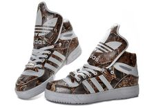 best loved ce648 44303 Adidas Big Tongue High Tops Shoes Snake Scales