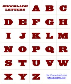 Lettertype chocoladeletters