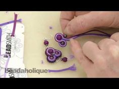 How to do Soutache Bead Embroidery: Part 3 How to Add a Side Bead and to End a Stack - YouTube