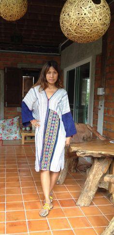 Made from Hemp Woman's Long Poncho/Kaftan/Maxi Dress. by SpellMaya