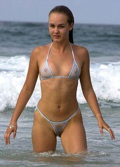 girls in bikinis | This bikini is not only tiny but transparent too