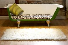 Claw foot tub turned bench settee - which frankly I imagine would be kinda uncomfortable. But it does look cool.