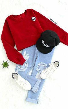 Burgundy Alien Embroidered Crop Sweatshirt - Burgundy Alien Embroidered Crop Sweatshirt Source by Dtfandom - Teenage Outfits, Teen Fashion Outfits, Cute Fashion, Outfits For Teens, Fall Outfits, Summer Outfits, Fashion Ideas, Fashion Design, Holiday Outfits