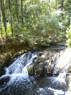 Waterfall at the Augusta Canal Trail