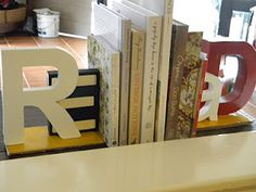 DIY bookends...really like these!