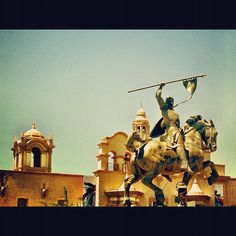 El Cid Sculpture at Balboa Park in San Diego, Ca. Photo and edit by Jon Savage. http://instacanv.as/savagephoto