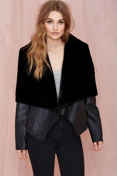 Glamorous Jules Faux Fur Jacket | Shop Jackets + Coats at Nasty Gal