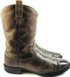 Ariat Men Western Boots Vtg Size 11 Brown ATS Equipped.  TTT 132. #Ariat #CowboyWestern