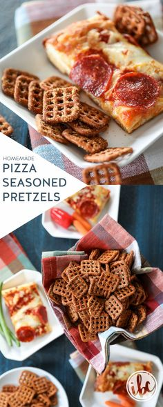 These homemade Pizza Seasoned Pretzels are a delicious snack addition to any celebration! Healthy Superbowl Snacks, Game Day Snacks, Yummy Snacks, Yummy Food, Sweet Potato Skins, Mashed Sweet Potatoes, Bread Appetizers, Appetizer Recipes, Seasoned Pretzels