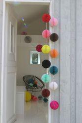 Bunting Balls garland kit-12 small colourful balls - Bunting Ball Garland Kits - Petra Boase