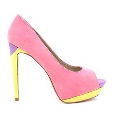 Coloured-blocked gelato hues! Shop 'Caitlin' www.betts.com.au/catalogue/new_season_shoes/CAITLIN.aspx #betts #bettsshoes #partyheels #gelato #highheels