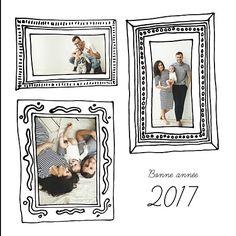 Mettez-vous en scène en jouant avec ces différents tableaux et envoyez cette jolie carte de voeux tableaux à tous vos amis et ce que vous aimez ! Un joli fond blanc et des cadres originaux pour une nouvelle année toute en beauté et élégance avec Popcarte !