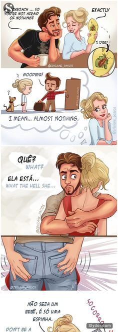 We already see previous post about married life jokes. Because it is well appreciated here we make a list from another, Brazilian artist (Crislane).Crislane came up with the imaginary couple a few years ago when writing a novel. But he fell in love so much. He completely devoted himself to Max and Julia's relationship, #crislane #comics #funnycomics #humor #humour #funnypics #love #fantasy #imagination #respectWriters