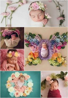 Newborn Photography Flowers - Sweet baby girls