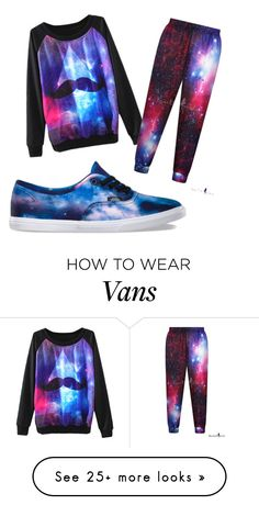 """""""GALAXY!!♡♡♡"""" by art-fashion on Polyvore featuring Vans, women's clothing, women, female, woman, misses and juniors"""