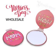 Wholesale stall gifts for Mothers Day. Printed Worlds Best Mum compact mirror at reduced prices. Perfect for schools, resale and other fundraising events. School Fundraisers, Fundraising Events, Compact Mirror, Best Mom, Mother Day Gifts, Prints, Ideas, Mirrors, Printmaking