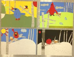 Mrs. Knight's Smartest Artists: Bird collages, 3rd grade