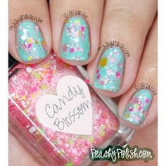 "On the blog today, @A Whole Lotta Love Lynnderella ""Candy Blossom""! More details and pics at PeachyPolish.com!"