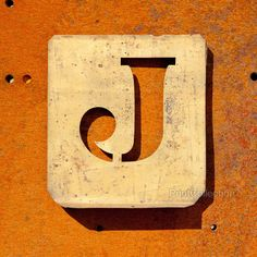 "Letter ""J"" Copper Type Stencil"
