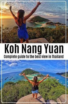 Koh Nang Yuan is a small island about minute long tail boat ride from Koh Tao, at the Central Gulf Coast of Southern Thailand. Travel And Tourism, Asia Travel, Travel Destinations, Travel Goals, Travel Plan, Travel Tips, World Of Wanderlust, Go Outdoors, Koh Tao