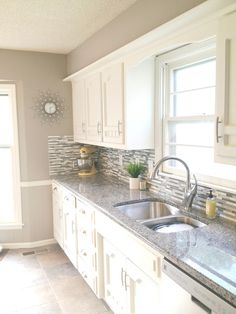 wall color in white kitchen