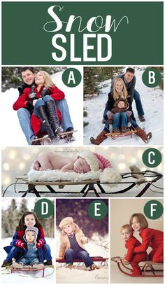 Holiday Photo Prop Ideas - snow sled