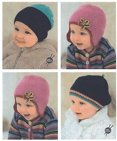 Rico Classic Baby DK Knitting Pattern for Hats (Birth - 4 years) Rico 091 | eBay
